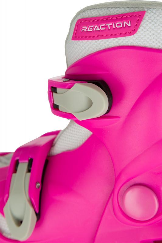 Роликовые коньки детские раздвижные REACTION Rock Girl — фото №7