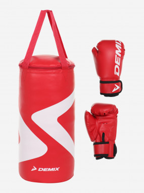 Набор боксерский детский Demix Gift Box, мешок 5 кг и перчатки 4 oz Купить в Спортмастер