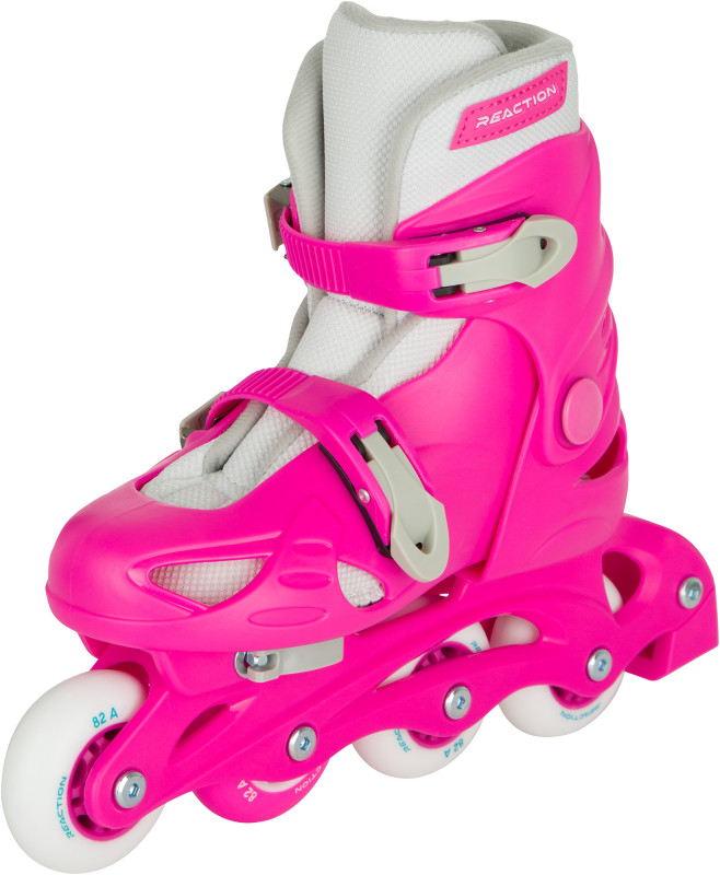 Роликовые коньки детские раздвижные REACTION Rock Girl — фото №3