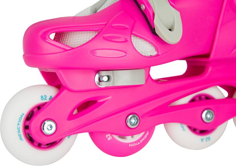Роликовые коньки детские раздвижные REACTION Rock Girl — фото №4